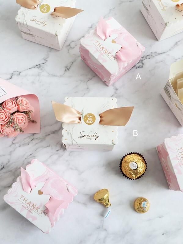 Marble Pattern Candy Box 10pcs