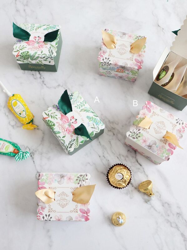 Flower Print Candy Box 10pcs