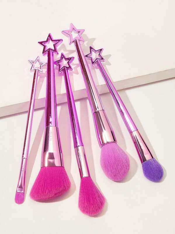 Star Design Handle Makeup Brush 5pack, null