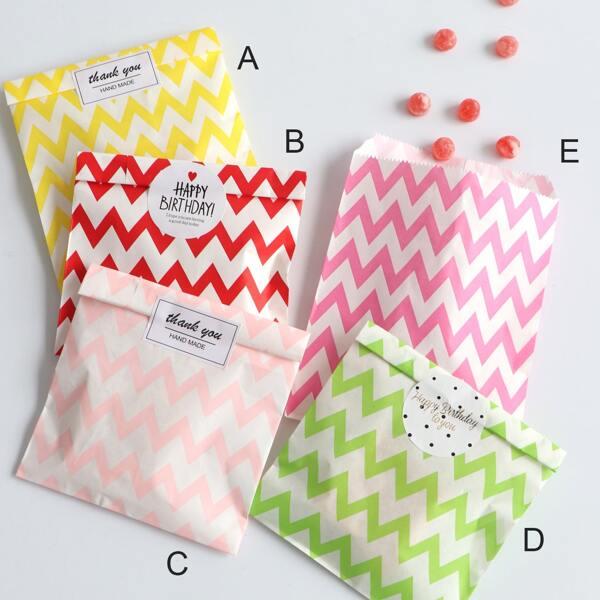 Chevron Pattern Biscuit Bag 25pcs