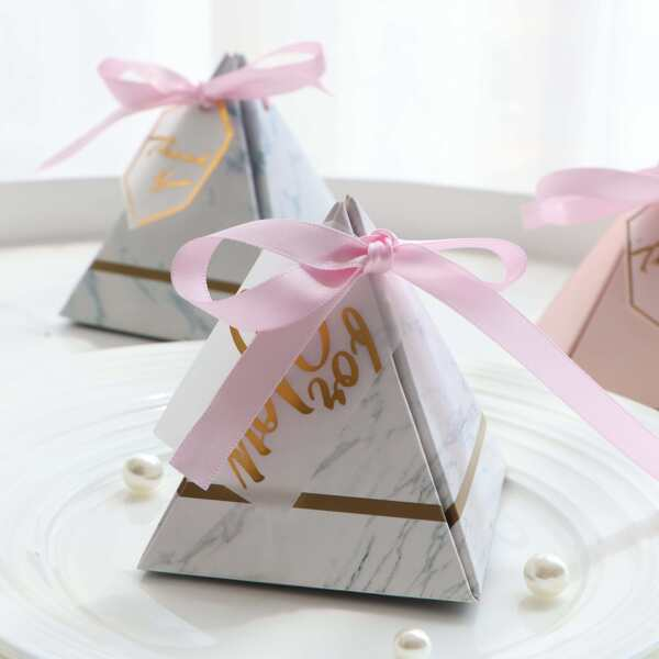 Marble Pattern Two-sided Candy Box 10pcs