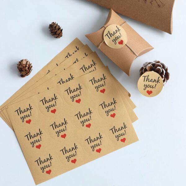Slogan Print Sealing Sticker 10sheets