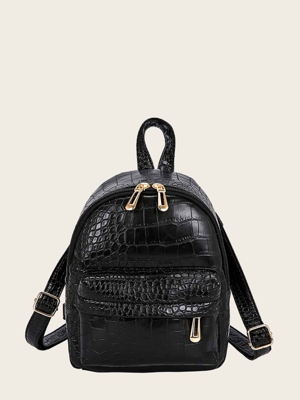 Kids Croc Embossed Pocket Front Backpack, null