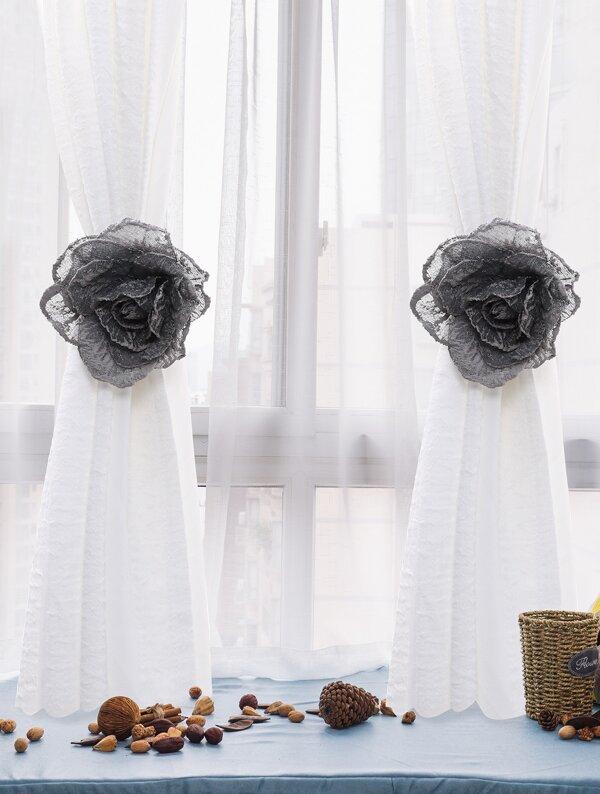 Flower Design Curtain Buckle 1pc, null