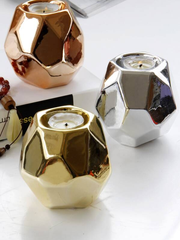 Geometric Candle Holder 1pc, null