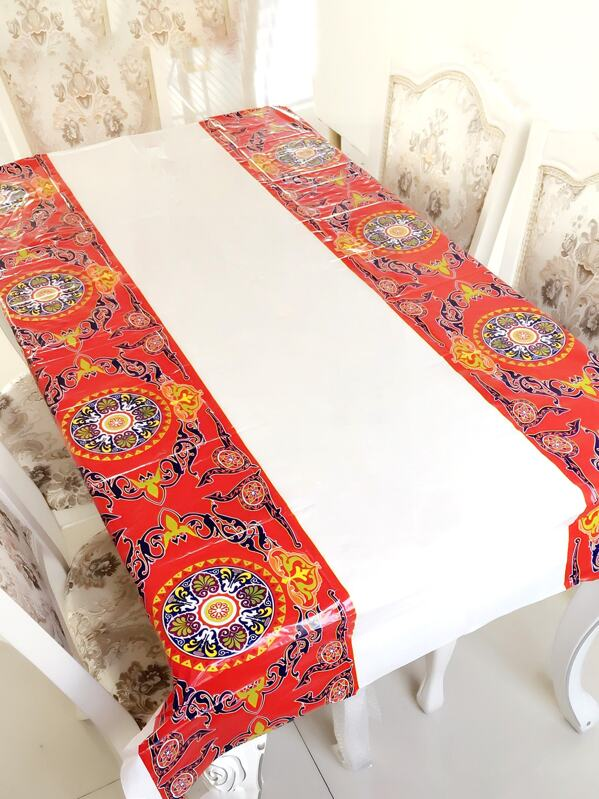 Muslim Holy Month Decorative Tablecloth 1pc, null