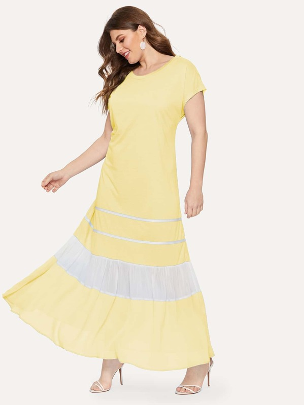 Plus Cut And Sew Maxi Dress, Isabela