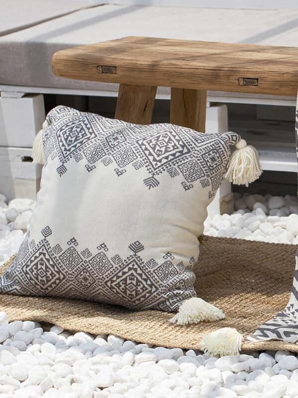 Hassle Detail Boho Decorative Pillow 1pc, null