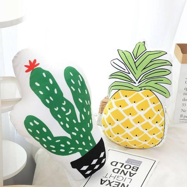 Cactus & Pineapple Shaped Decorative Pillow 1pc