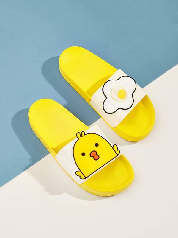 Duck Pattern Flat Slippers