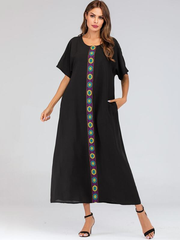 Tape Front Through Longline Dress, Andy