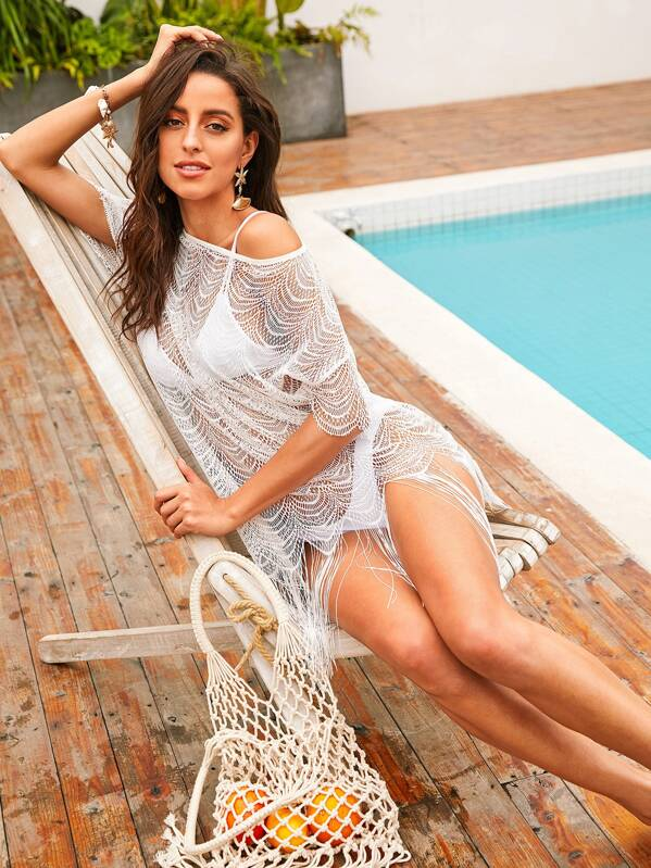 86f0f826c1 Dobby Mesh Top & Skirt Cover Up Set Without Lingerie, Mary P ...