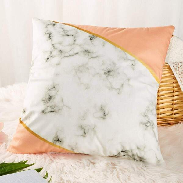 Marble Pattern Print Cushion Cover
