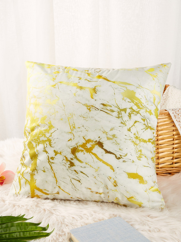 Marble Pattern Print Cushion Cover, null