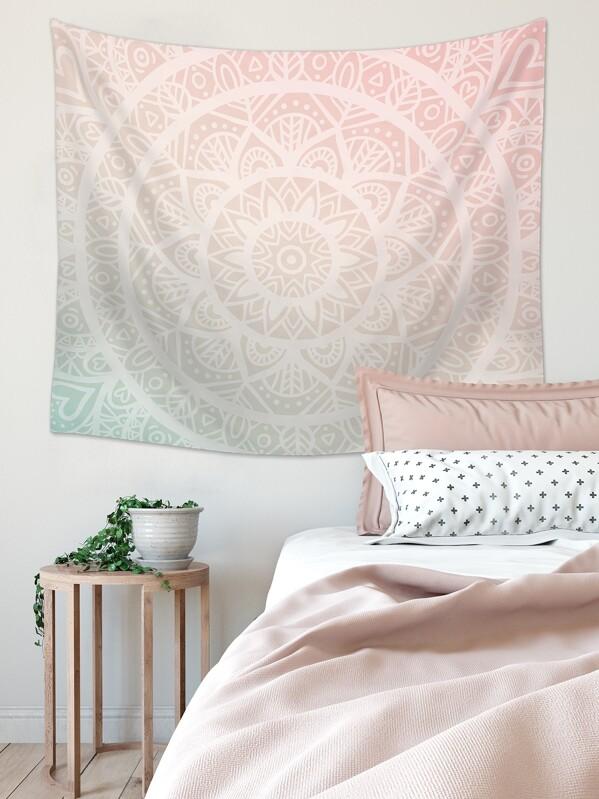 Mandala Pattern Print Tapestry, null