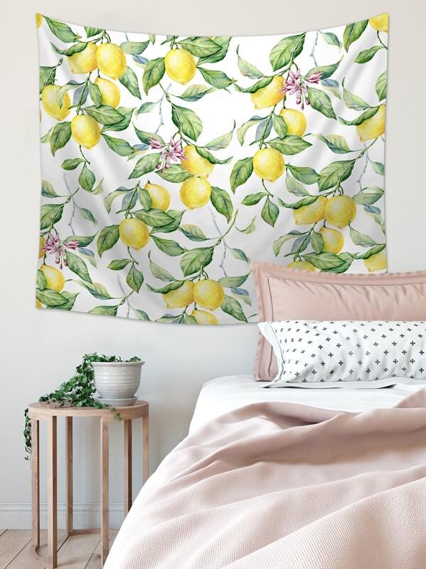 Lemon Print Tapestry, null