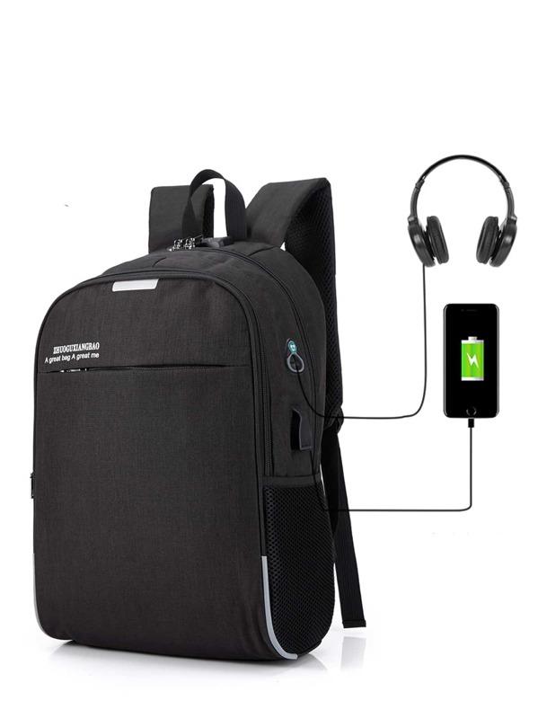Men USB Charging Port Backpack, null
