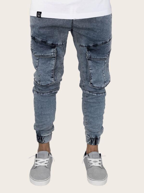 Men Pocket Side Solid Jeans