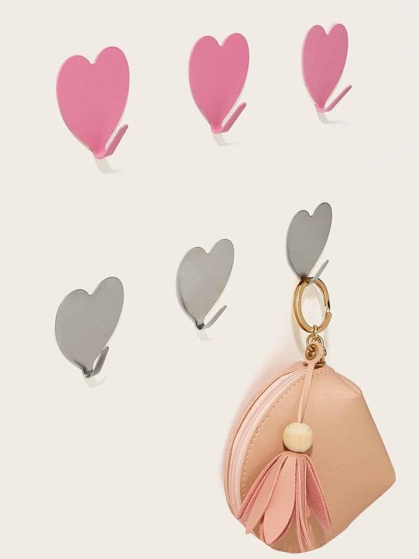 Heart Shaped Wall Hook 3pcs, null