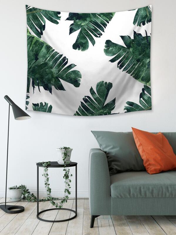 Banana Leaf Print Tapestry, null