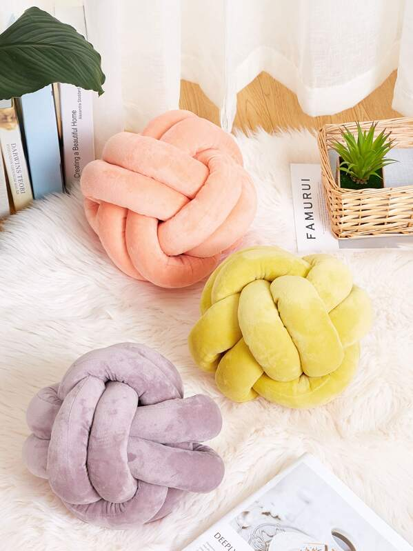 Knot Design Decorative Pillow 1pc, null