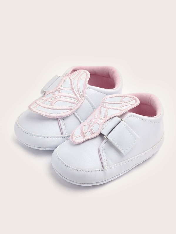 Baby Girls Butterfly Decor Flat Sneakers, null