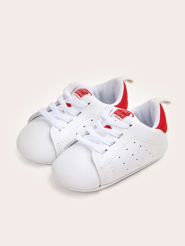 Baby Girls Lace-up Front Sneakers, null