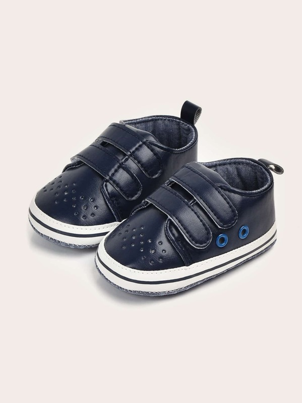 Baby Boys Double Hook-and-loop Straps Sneakers, null