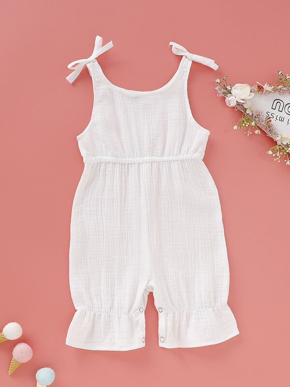 Baby Knot Side Solid Jumpsuit, null