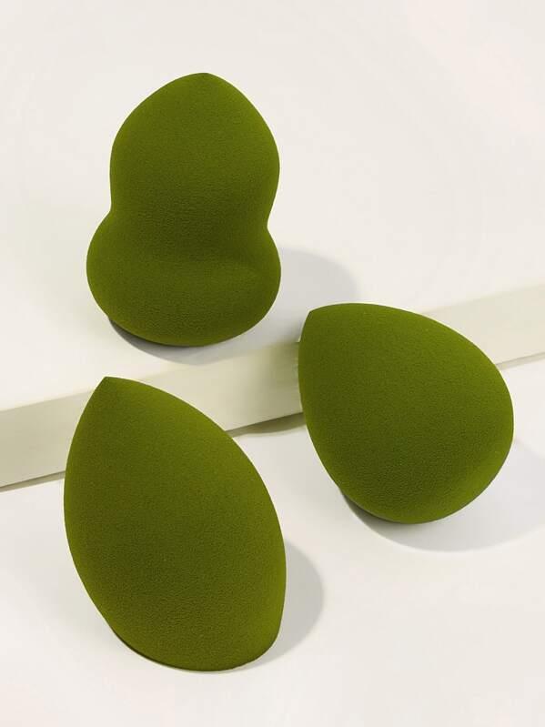 Pear & Waterdrop & Flat Edge Sponge 3pcs
