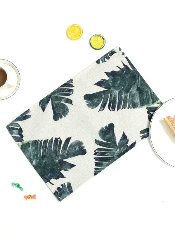 Tropical Leaf Print Placemat, null