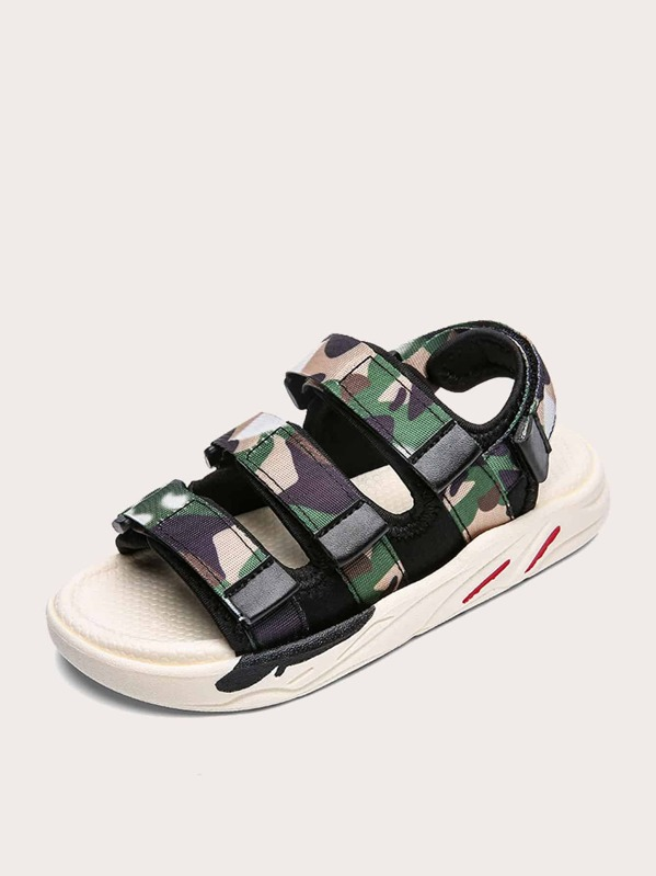 Toddler Boys Camouflage Pattern Sandals, null