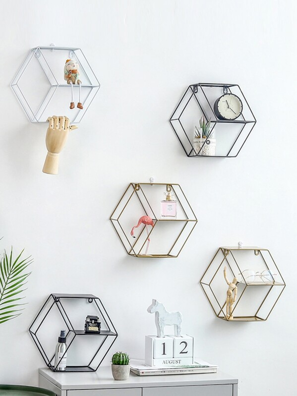 Hexagon Shaped Storage Rack 1pc, null