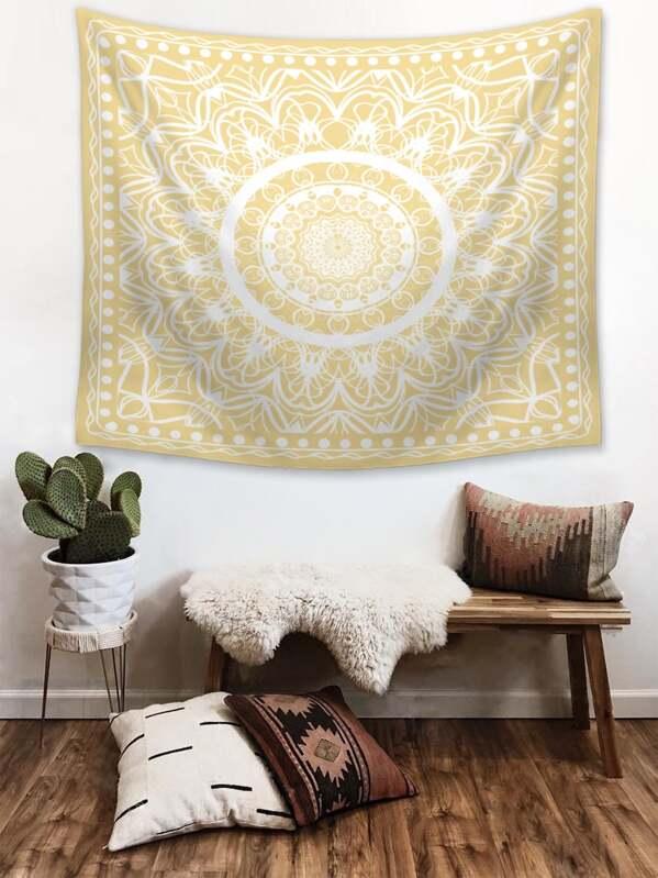 Mandala Print Tapestry, null
