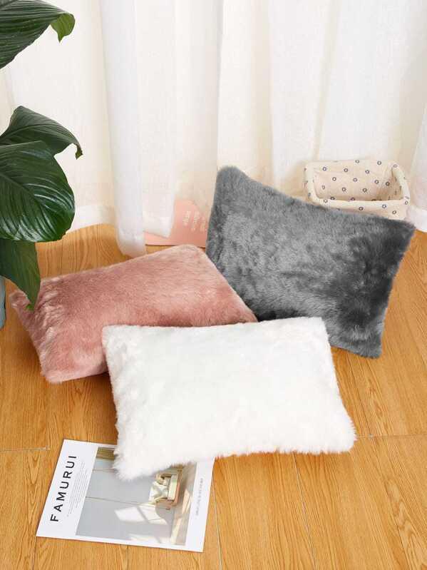 Faux Fur Decorative Pillow 1pc, null