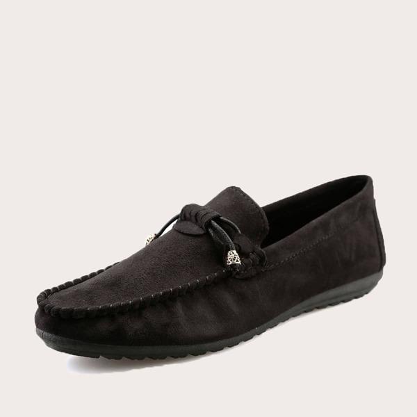 Men Bow Tie Decor Slip On Loafers
