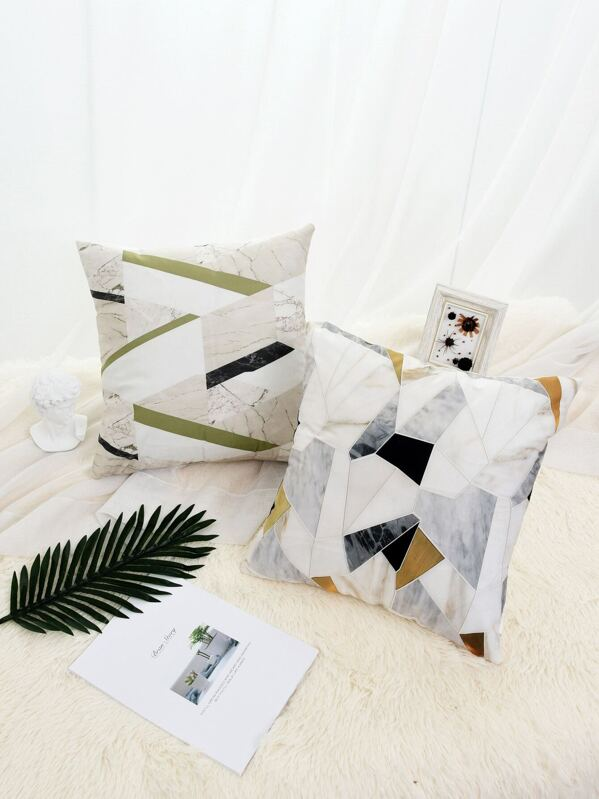 Marble Pattern Cushion Cover 1pc, null