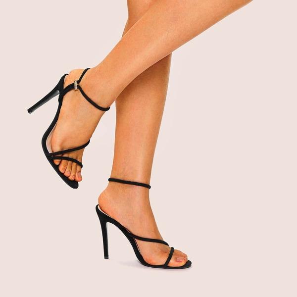 Strappy Suede Stiletto Heels