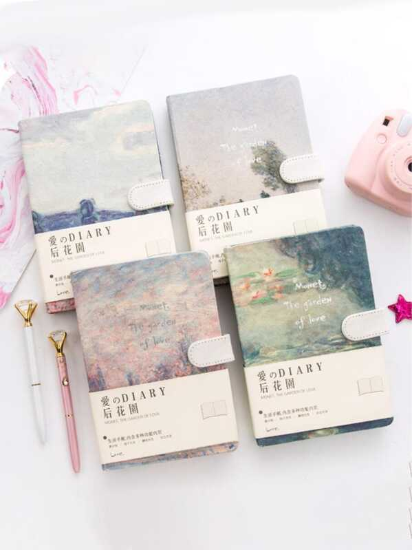 Scenery Print Cover Notebook 1pack, null