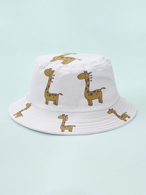 Baby Dinosaur Print Bucket Hat, Multicolor