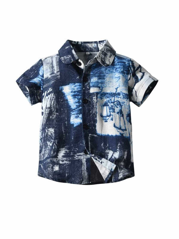 Toddler Boys Tie Dye Shirt, null