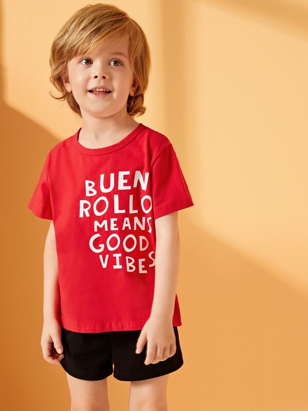 Toddler Boys Letter Print Tee, Alex