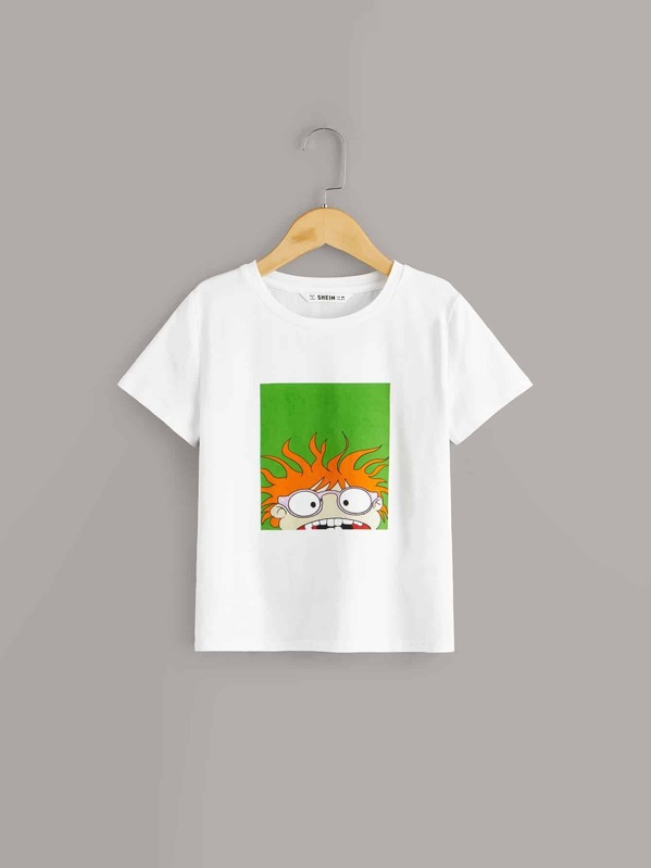 Boys Cartoon Print Tee, null