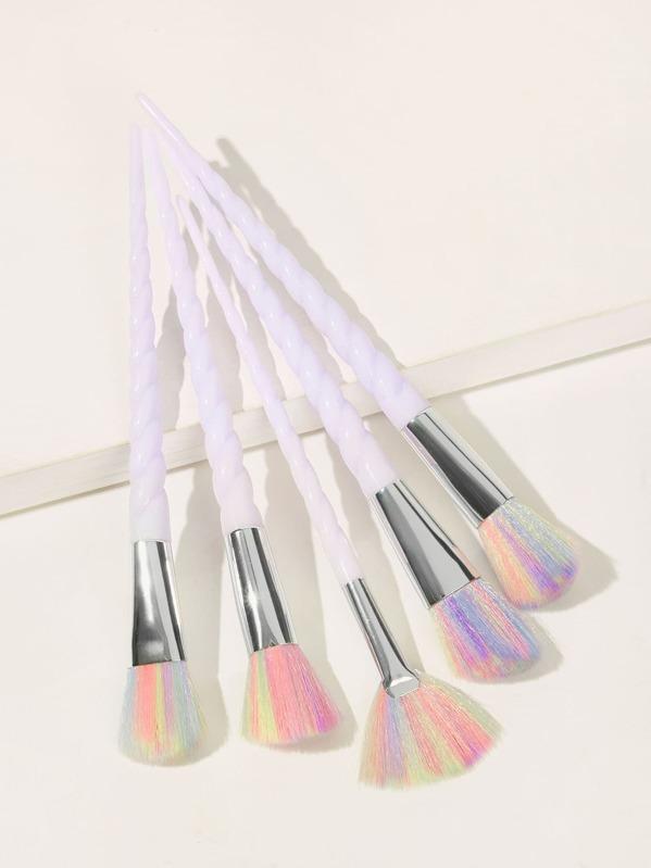 Spiral Handle Makeup Brush 5pcs, null