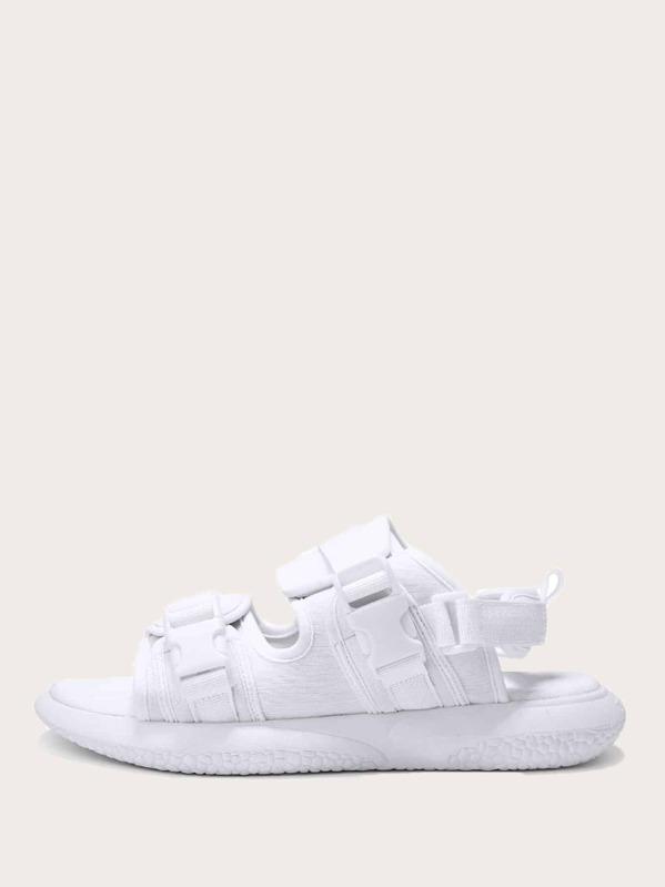 Men Open Toe Slingback Sandals, null