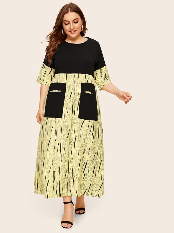 Plus Cut And Sew Dual Pocket Dress, Franziska