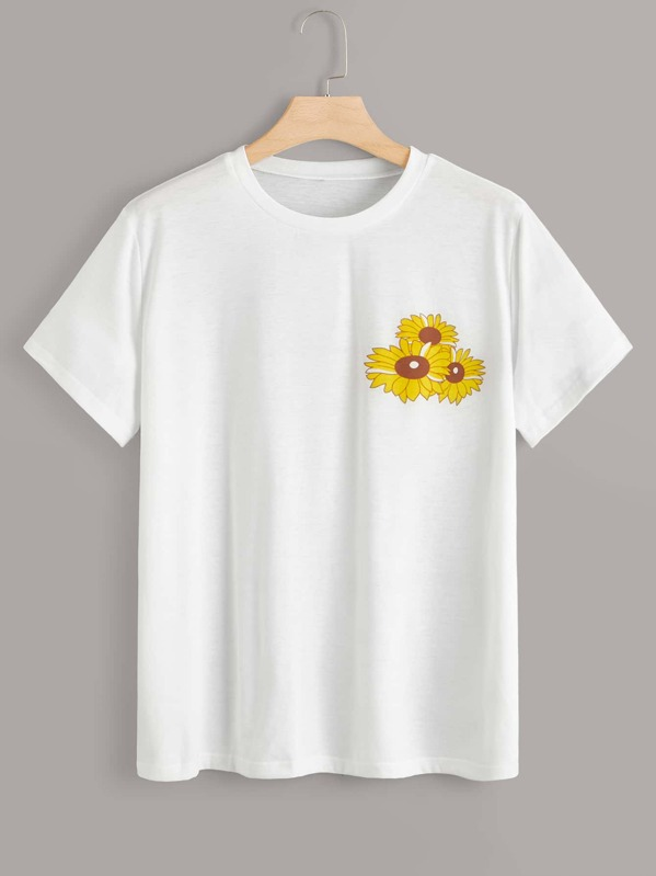 Plus Sunflower Print Tee, null