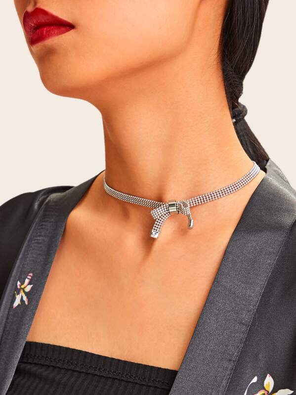Bow Detail Choker 1pc, null