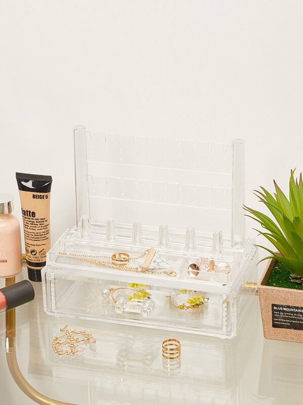 Clear Jewelry Storage Box, null