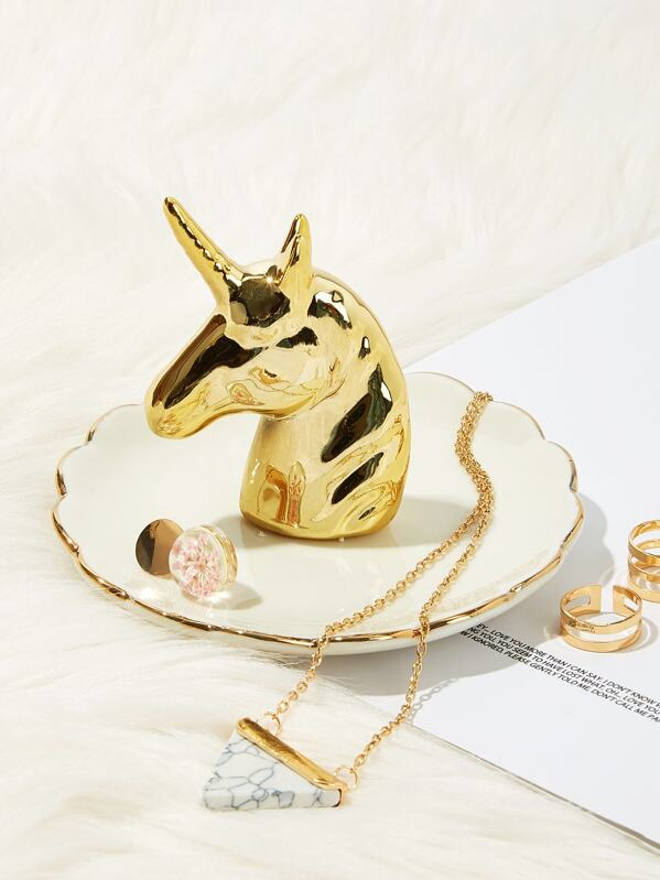 Unicorn Detail Jewelry Storage Tray, null